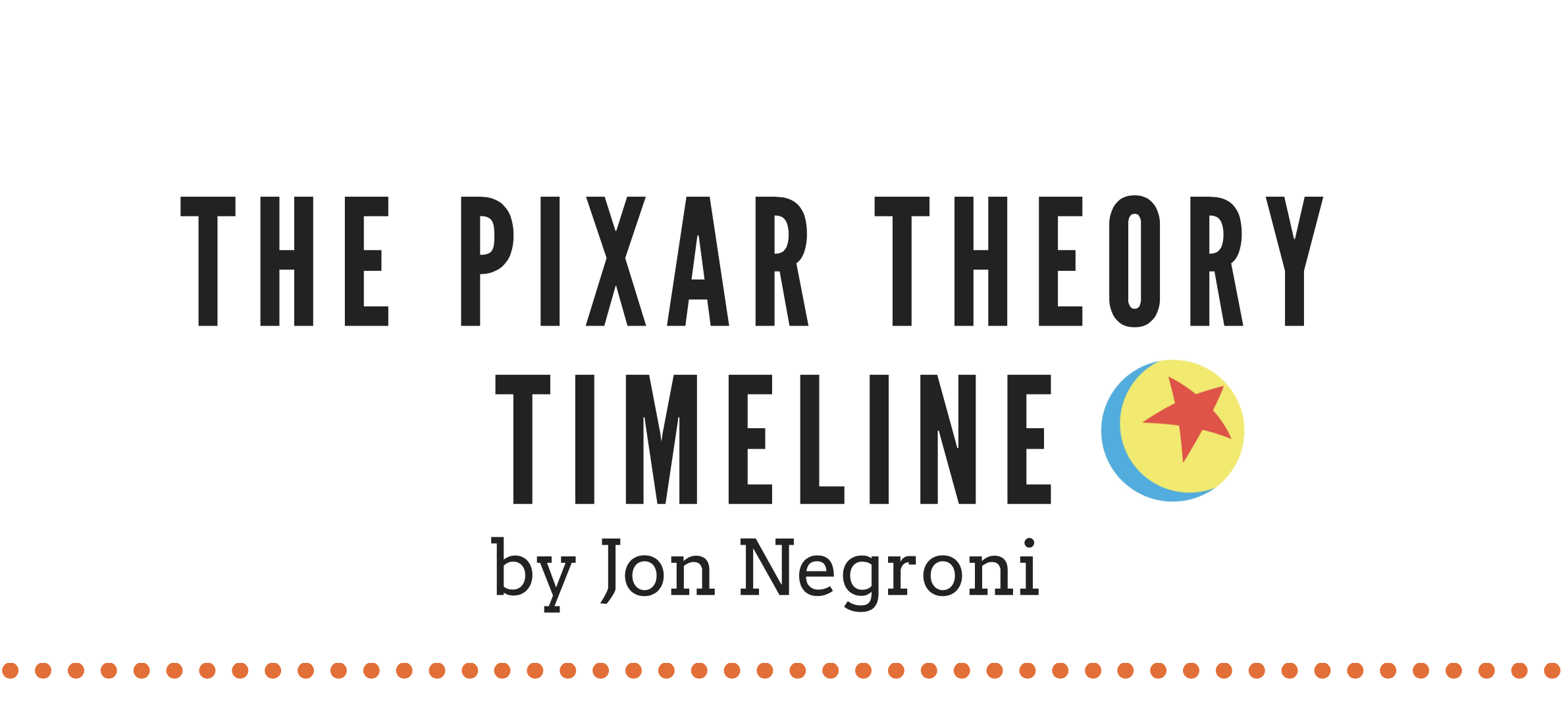 The Pixar Theory Timeline