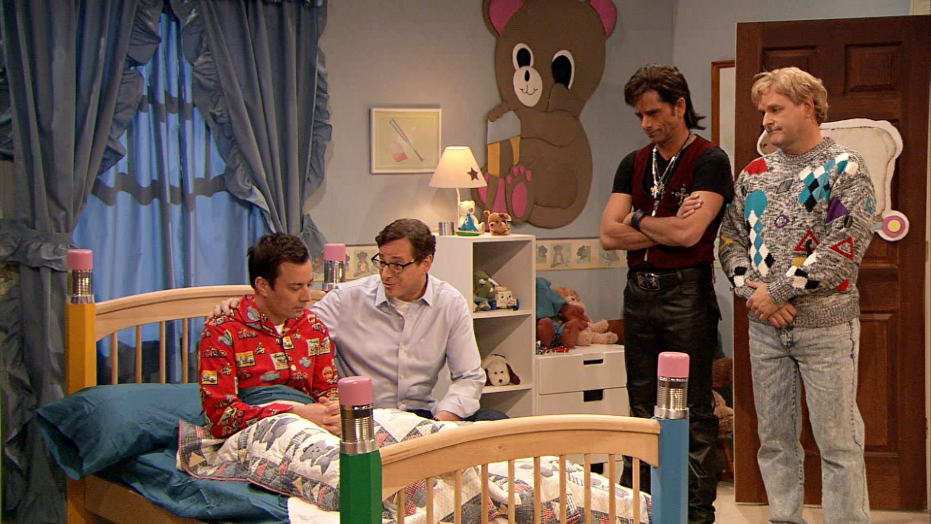 The Dads Of Full House Reunite To Comfort Jimmy Fallon